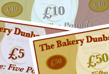 Gift Vouchers from the Bakery Dunbar